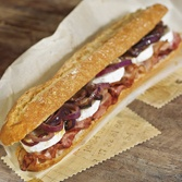 Bacon and Goat's Cheese Sandwich