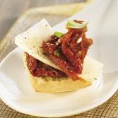Mini-Brochette de Tomate Sèche et de Parmesan